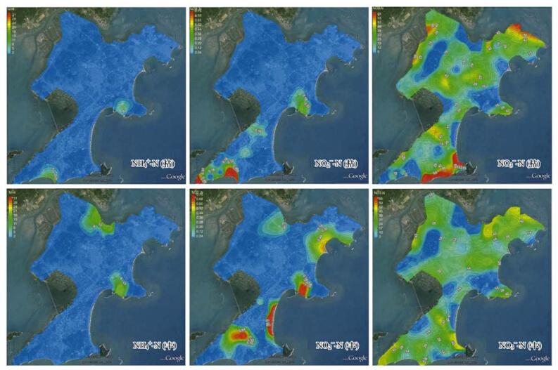 """东山岛地下水""""三氮""""空间分布特征"""